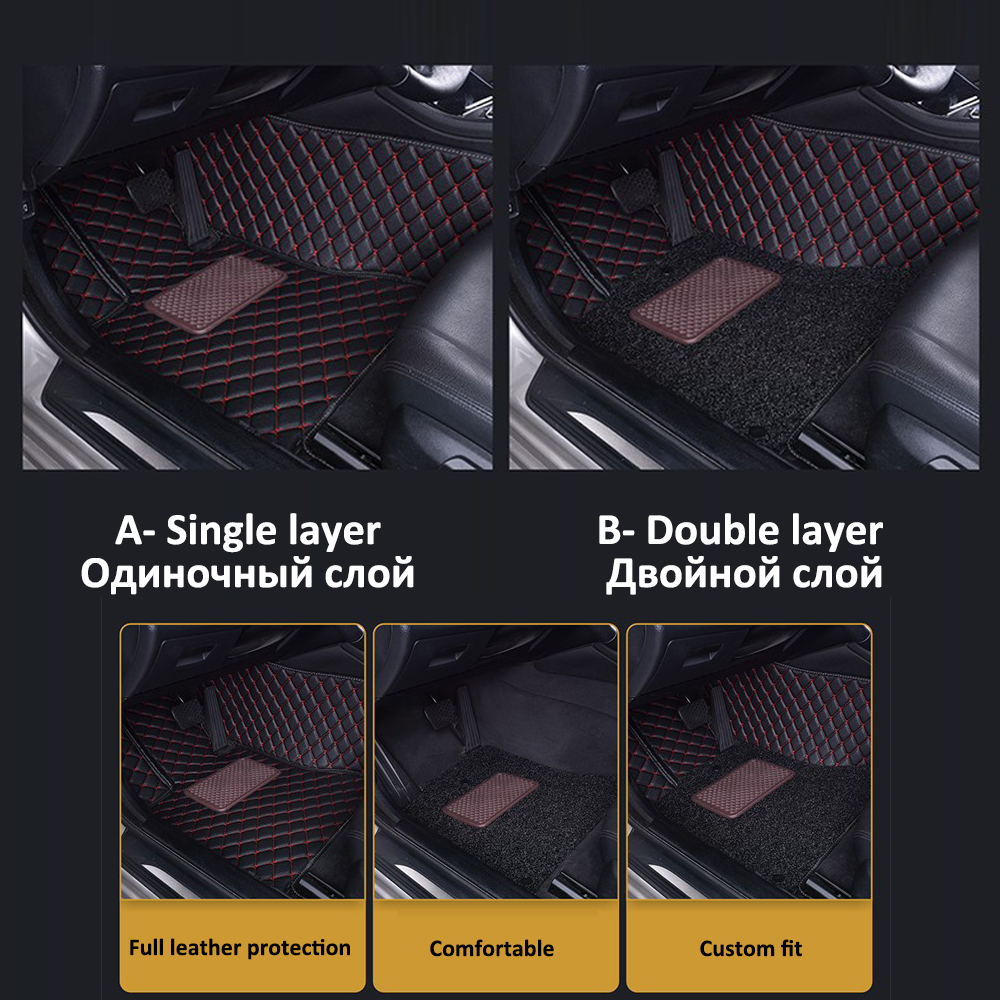 Image 3 - Custom Car Leather Floor Mats for BMW All Models 335i 335i GT xDrive 335i xDrive 335is 335xi 428i Luxury Surround Wire Floor Mat-in Floor Mats from Automobiles & Motorcycles