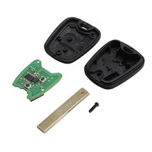 Professional 2 Buttons Remote Control Car Key Slotted Remote Control For PEUGEOT 307 433MHZ With PCF7961 Transponder Chip(China)