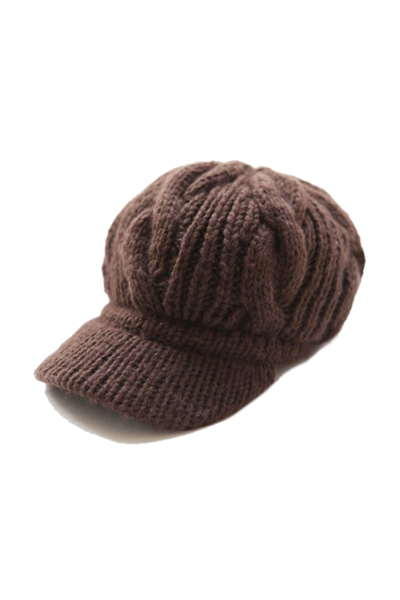 NEW STYLE Women Slouchy Cabled Pattern Knit Beanie Crochet Rib Hat Warm - Brown