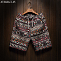 AIRGRACIAS Men Summer Board shorts Brand Mens Beach Shorts homme Short Pants Size 5XL cotton linen Sunga Bermuda Masculina