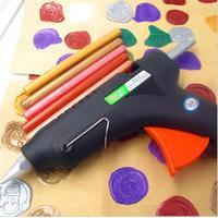 60W Hot Melt Glue Gun For Sealing Wax Stick Stamp 100 240V Electric Heat Temperature Tool