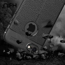 Чехол в стиле ретро из кожи личи, мягкий силиконовый чехол s для iPhone 5, 5S, 6, 6 S, 6 Plus, 7 Plus, чехол с полным покрытием, чехол s для iPhone на 5, SE, оболочка