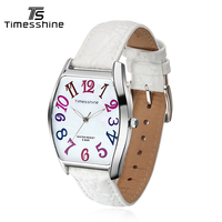 Timesshine Top Brand Luxry Women Watch Female Casual Fashion Genuine Leather Waterproof Colorful Quartz Ladies Watches