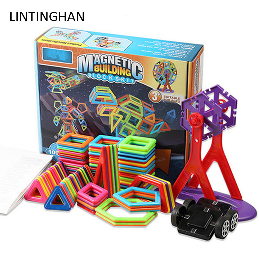 Puzzle Creative DIY Building A Variety Of Building Blocks Children's Toys Gift Magnetic Piece Boxed Magnetic Piece Interactive
