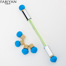 1PCS with 4 Double Silicone Heads Dual Nail Art Brush Dotting Shaping Painting Pen Gradient Color Blooming Bead Manicure Tools