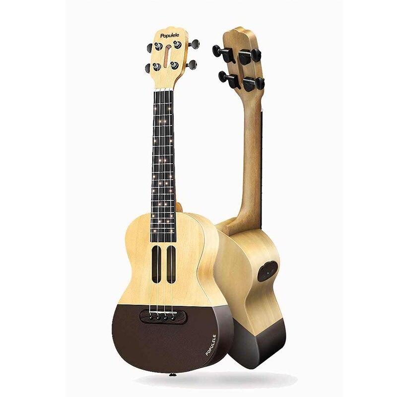 Populele U1 Smart Concert Ukulele Guitar -Original Wood Color