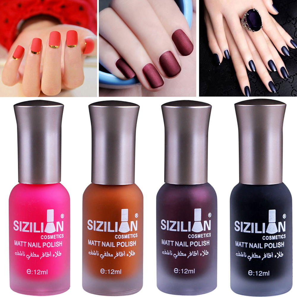 12ml Matte Dull Nail Polish Fast Dry Long Lasting Nail Art Matte Nail Polish Gel #7654