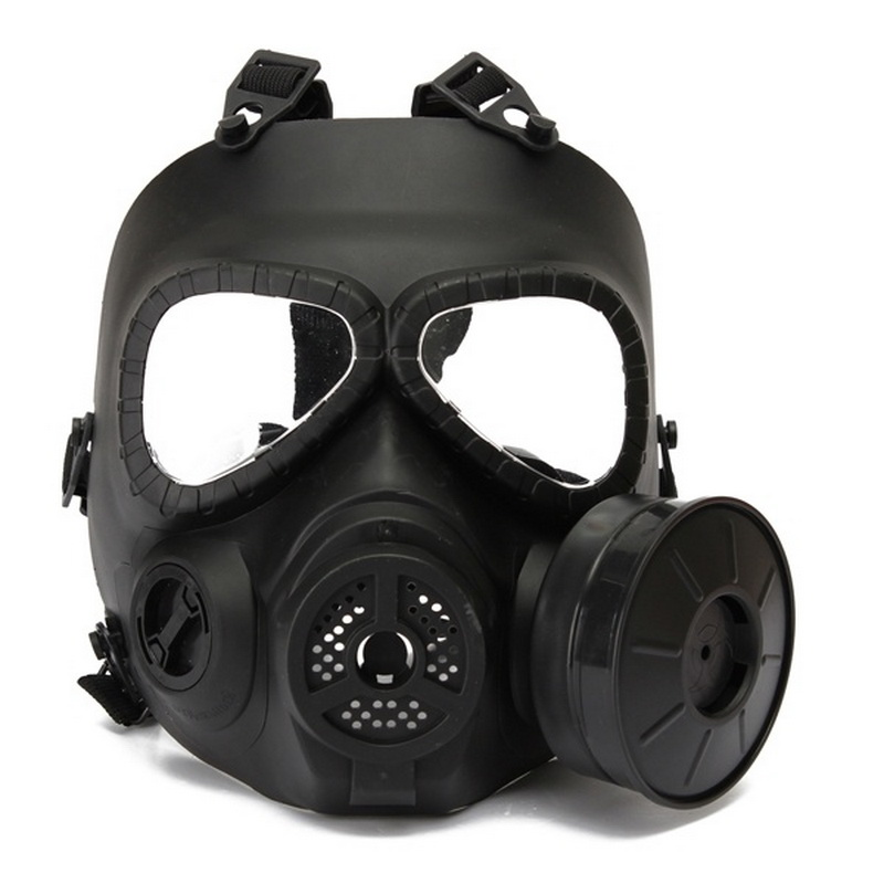 Paintball Mask Tactical Airsoft Game Full Face Protection Safety Mask Guard Skull Paintball Goggles Gear Black