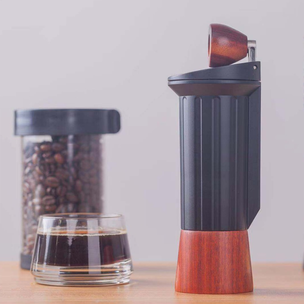Improved Version Portable Coffee Mill Manual Coffee Grinder Stainless Steel Burr Hidden Handle Grinder