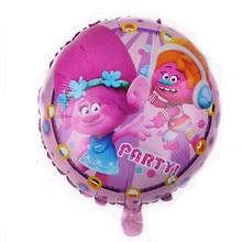 TSZWJ I-106 novo 1 pcs Rodada Trolls Brinquedo Do Balão Do Partido da Festa de Aniversário de Alumínio Balão Decorativo