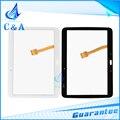 Для Samsung Galaxy Tab 2 10.1 P5100 P5110 touch screen digitizer передняя панель с flex кабель 1 шт. бесплатная доставка черный белый