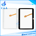 For Samsung Galaxy Tab 2 10.1 P5100 P5110 touch screen digitizer front panel with flex cable 1 piece free shipping black white