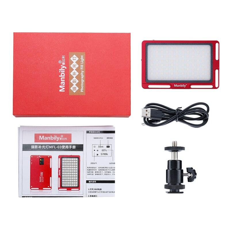 Manbily MFL-03 3500-5700 K LED Mini cámara de Video regulable luz 96 LED iluminación fotográfica lámpara para Canon DSLR nikon Pentax - 6