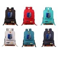 Anime Attack on Titan Women Men Backpacks School Bags Shoulder Bag Oxford Cloth Rucksack Backpack Mochila