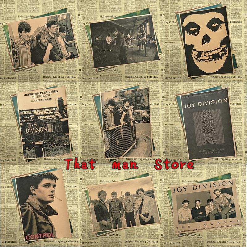Vintage Poster Joy Division Happy Split Kraft Retro Retro Rock Old Poster Post Punk Band Painting Retro Poster 42*30cm
