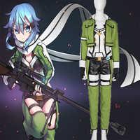 Anime espada arte Online Cosplay traje Asada Cosplay de Shino francotirador uniforme del traje de Cosplay de Halloween fiesta de Navidad personalizado