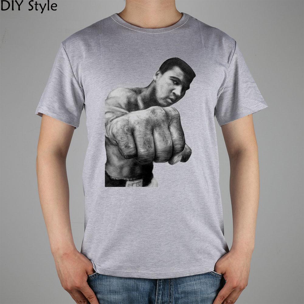 Muhammad Ali cel mai mare boxer din toate timpurile T-shirt Top Lycra - Imbracaminte barbati