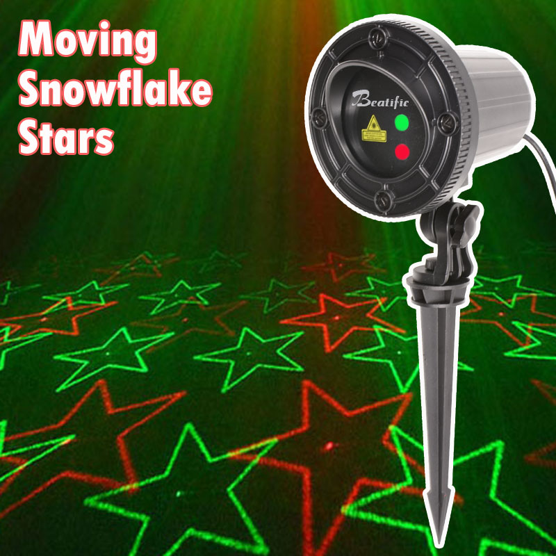 все цены на 110V 220V New Year Decoration lights Snowflake Star Laser Projector Christmas outdoor New Year's Fair Lights for home decro