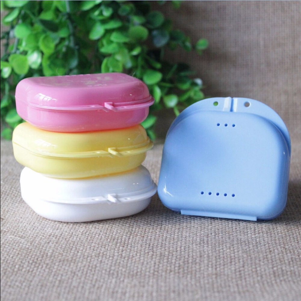 New 1PC Dental Orthodontic Retainer Denture Storage Mouthguard Container Case Box Hot Denture Boxes
