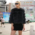 JEPLUDA New Fashion real Natural Fox Fur Coat Trendy Slim Warm Short Natural Fox Fur Winter Jacket Women Real Fur Coat DY16057