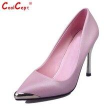 ผู้หญิงMeatalหัวหน้าบางส้นรองเท้าผู้หญิงที่สง่างามตื้นปากส้นปั๊มยี่ห้อพรรคศาลส้นรองเท้าขนาด35-39 Z00309
