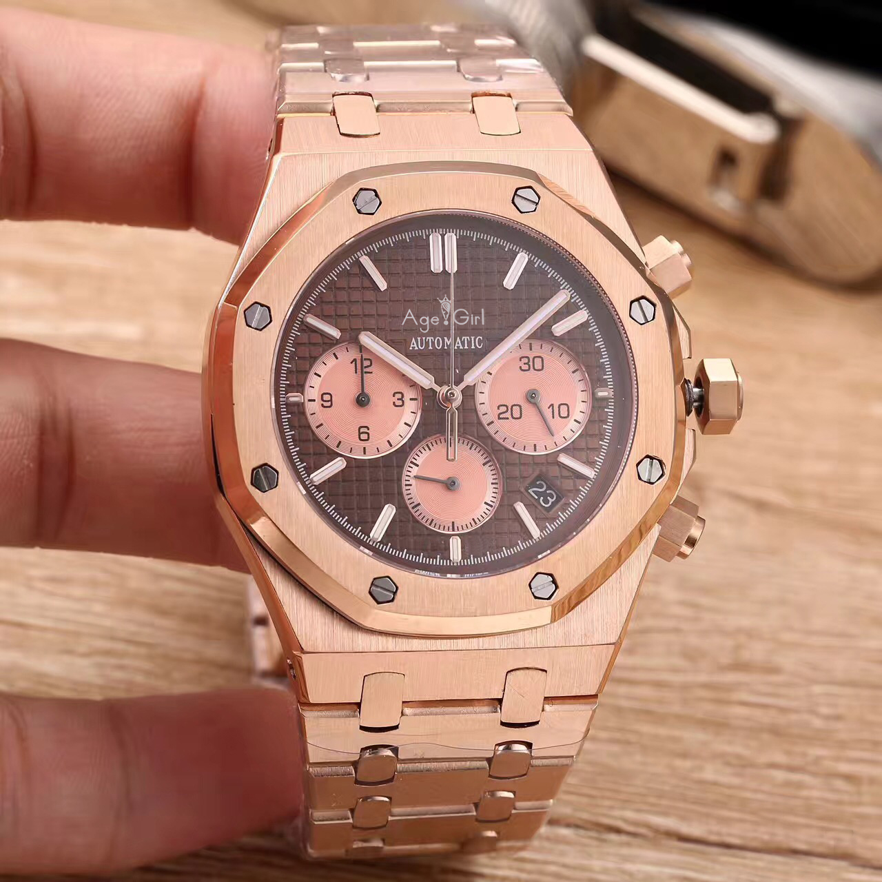 Age Girl Luxury Men Watch Chronograph Stainless Steel