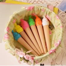 1 предмет Творческий Мороженое ручка каваи гелевая ручка caneta материал Эсколар канцелярия; школьные принадлежности подарок случайный цвет