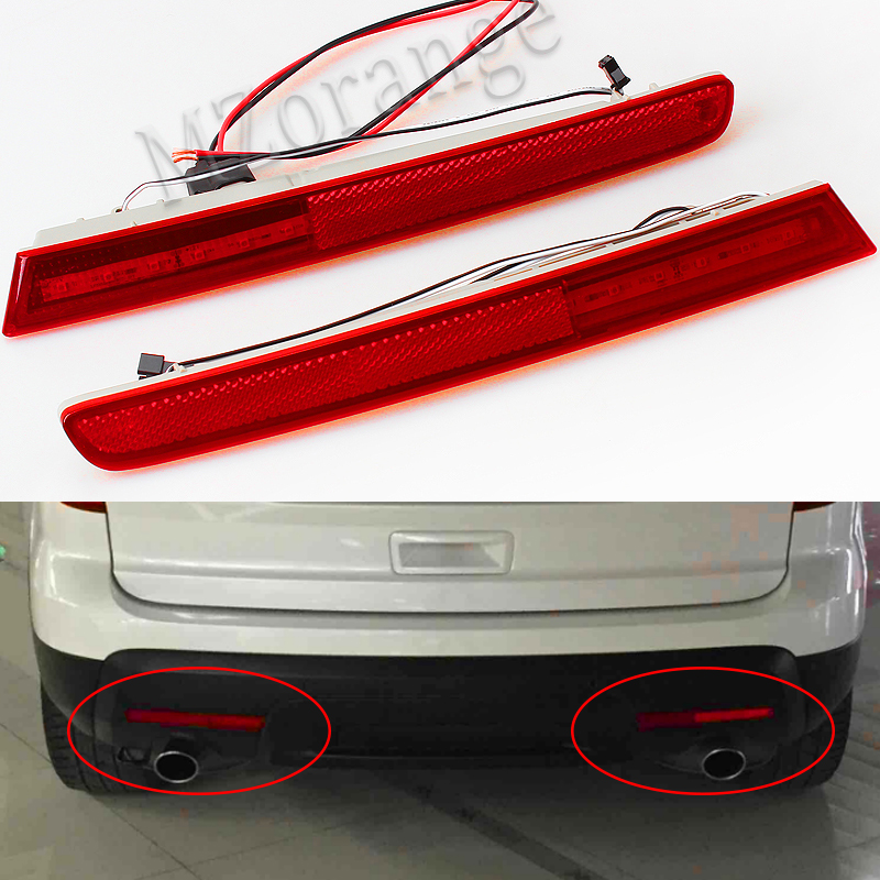 Tail Light Rear Bumper Lamp LED Reflector Stop Brake Light Fog Lamp For 20112012 2013 2014 2015 Ford Explorer 2PCS/SET dongzhen backup tail rear bumper lamp led reflector stop brake light fog lamp fit for toyota highlander 2012 2014