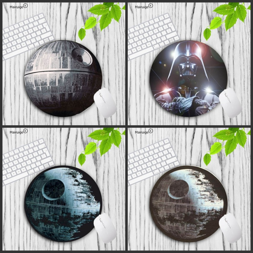 Mairuige  Star Wars Battlefront Pattern Prints Mouse Pad Small Size 20X20CM 22X22CM Lock Edge  Round Gaming Non-Skid Rubber Pad