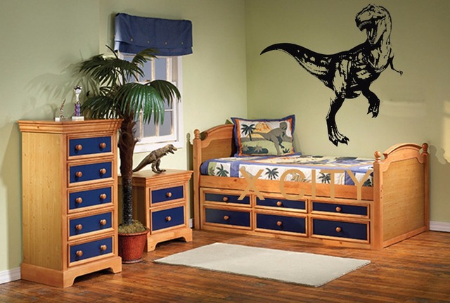 T rex dinosaur giant children animal wall sticker vinyl for T rex bedroom decor