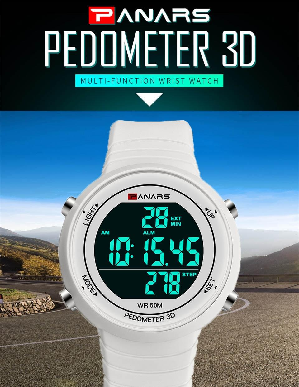 Pedometer Watch Clock Woman Waterproof 50M Outdoor Digital Sports Watch Women Simple Small Bracelet Hand Wrist Watches Hour gift (1)