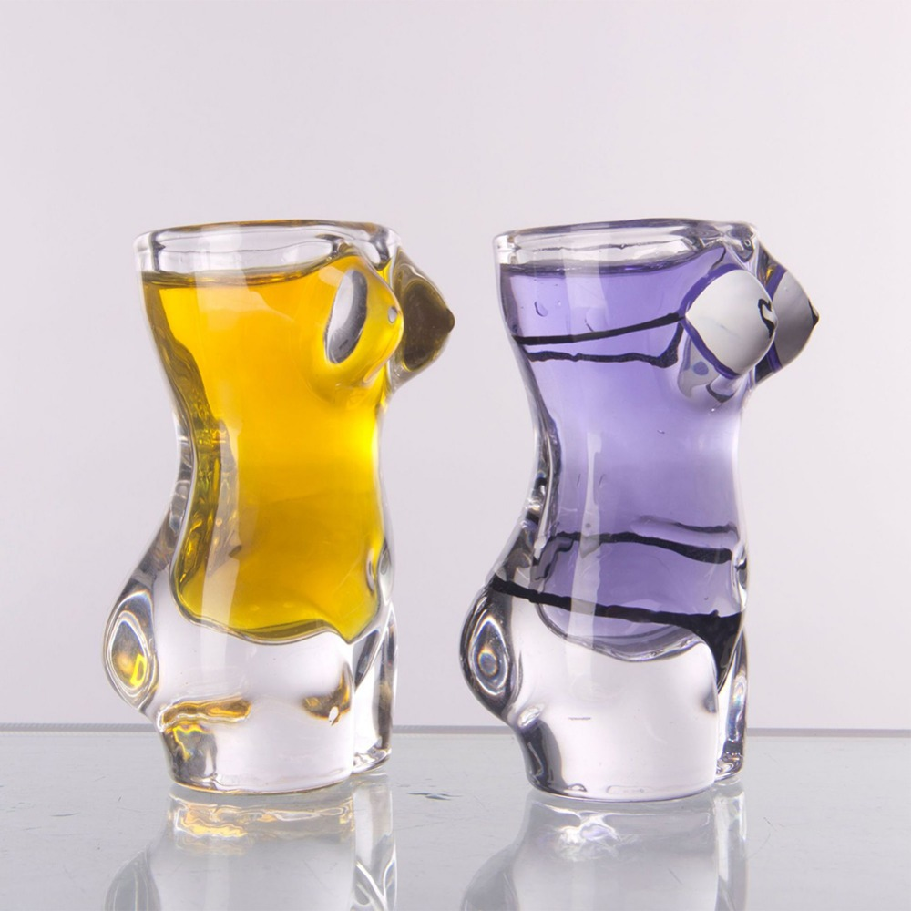 New Sexy Lady Men Durable Double Wall Whiskey Glasses Wine Shot Glass Big Chest Beer Cup 30ml /700ml Bar Nightclub Wine Glass 5