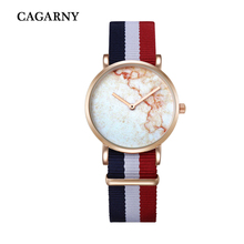 Canvas Watchband Ultrathin Dial Rose Gold Student Watches Fashion Quartz Wristwatch Creative Watches Women Gift Cagarny Relogio
