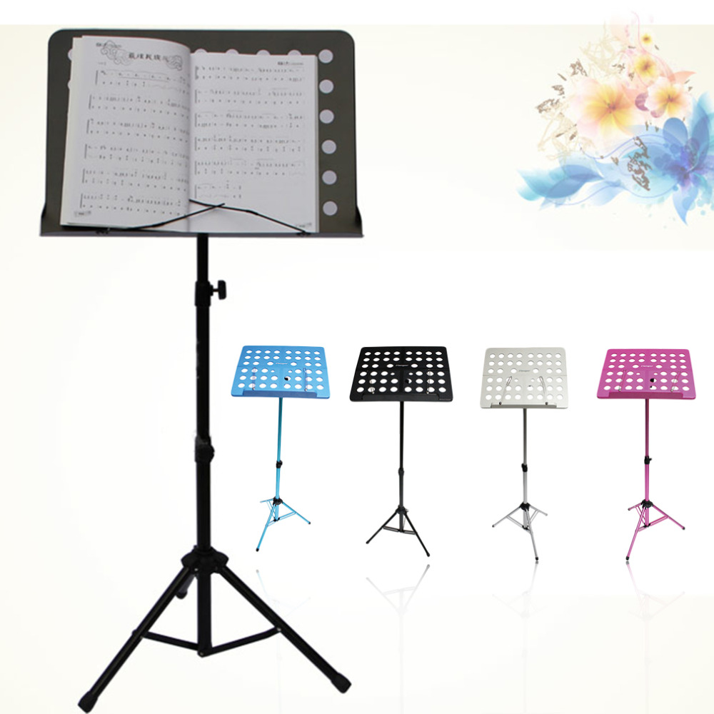 Flanger Sheet Folding Music Stand Aluminum AlloyTripod Stand Holder With Soft Case with Carrying Bag Free Shipping drop shippi colourful sheet folding music stand metal tripod stand holder with soft case with carrying bag free shipping wholesales