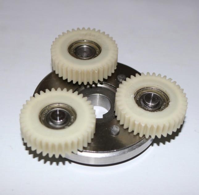 Gear outer diameter:38mm thickness:10mm 36 tooth motor gear assembly -Clutch+3pcs gear rpm motor outer diameter 200mm 220mm 3