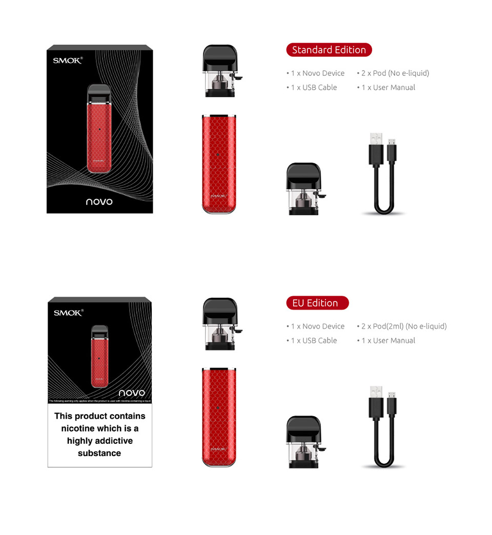 Detail Feedback Questions about SMOK NOVO Kit with 2ml Novo