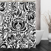 Custom Black white pattern Shower Curtain New unique design Eco-friendly Bathroom beautiful Curtains