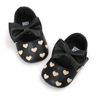 Baby Girls Soft Shoes Bow Love Infant Toddler Leather Boots Newborn Kids Mocc First Walkers Baby