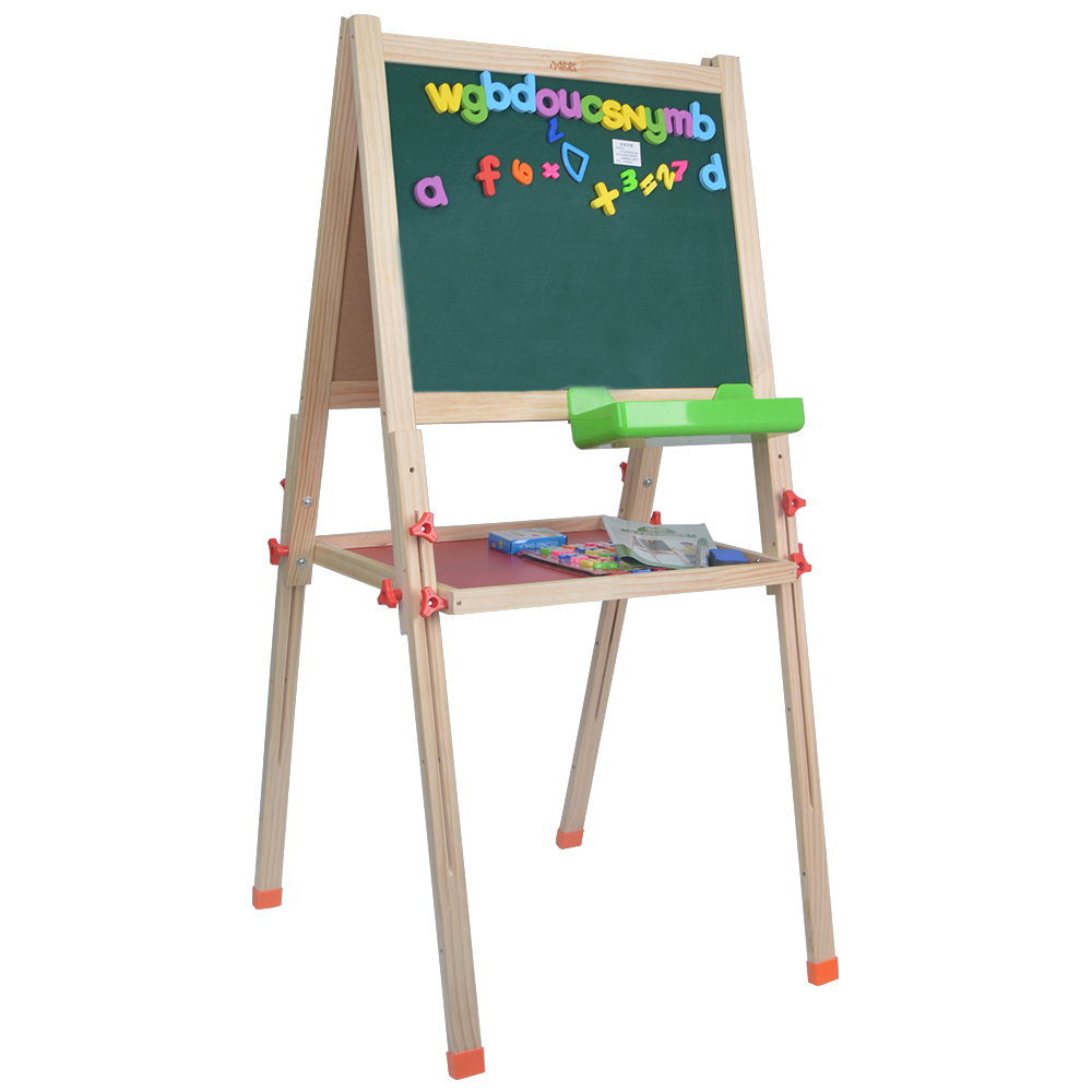 Wood Presentation Easel with Magnetic Dry Erase Surface