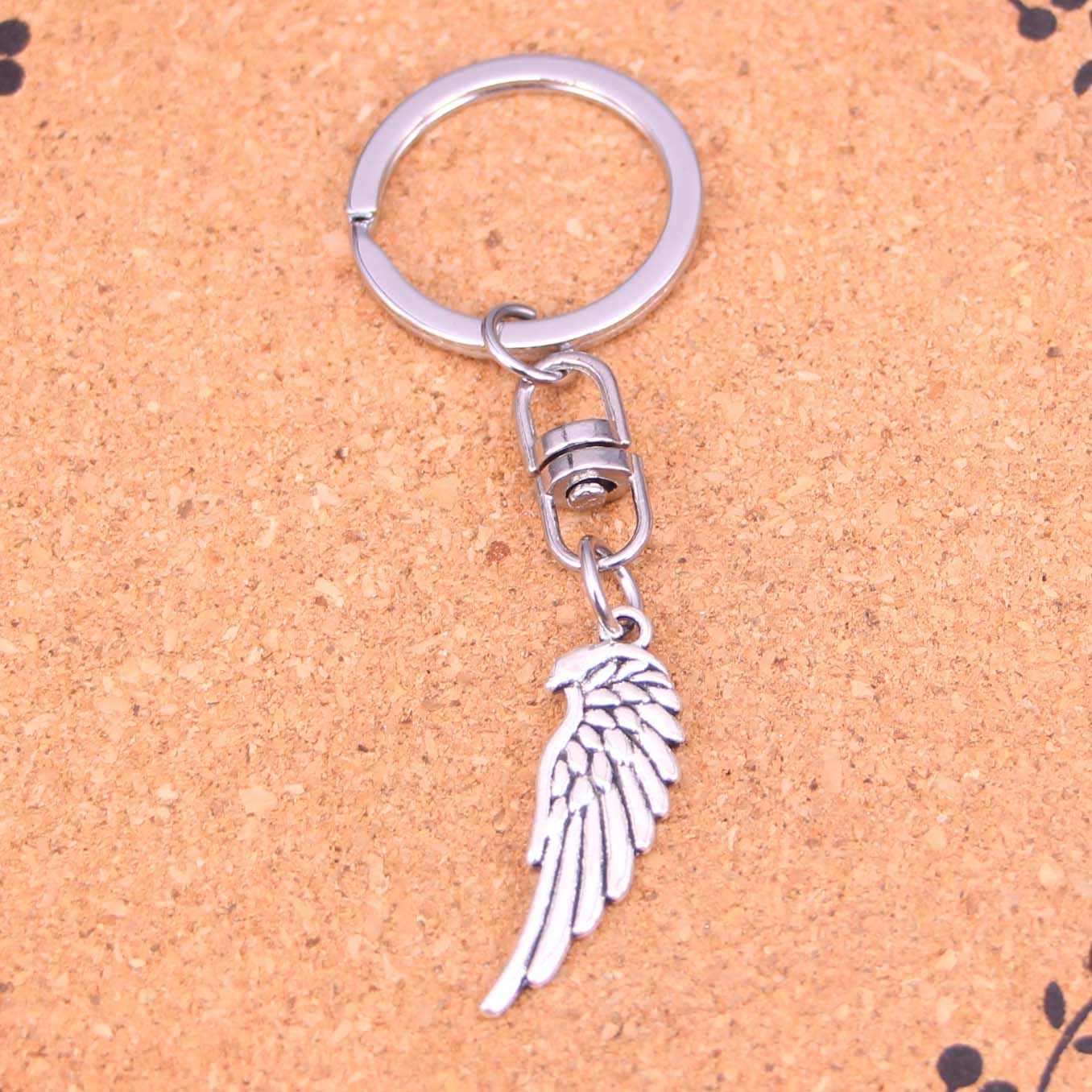 20Pcs double sided angel wings Keychain Novelty Gadget Trinket Souvenir Christmas Gift Keychain Drop Shipping