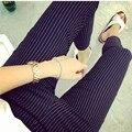 2016 Moda Listrada Impressa Maternidade Calças Skinny Primavera Outono Casual Lápis Calças Roupas para Mulheres Grávidas 3671