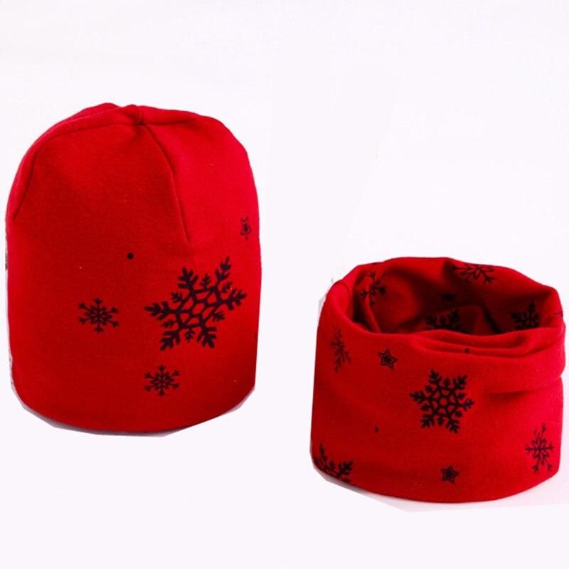 2018 Autumn Winter Cotton Baby Girl Scarf Cap Boy Hat Cap Scarf Set Kids Warm Neck Collar Children Hat Scarf Set