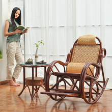 Indonesia's natural wicker chairs rocking chair balcony sofa couch Happy elderly recliner and shook his