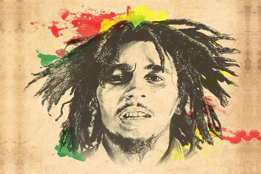 Personnalisé Mur de Toile Décor Peinture Bob Marley Affiche Bob ...