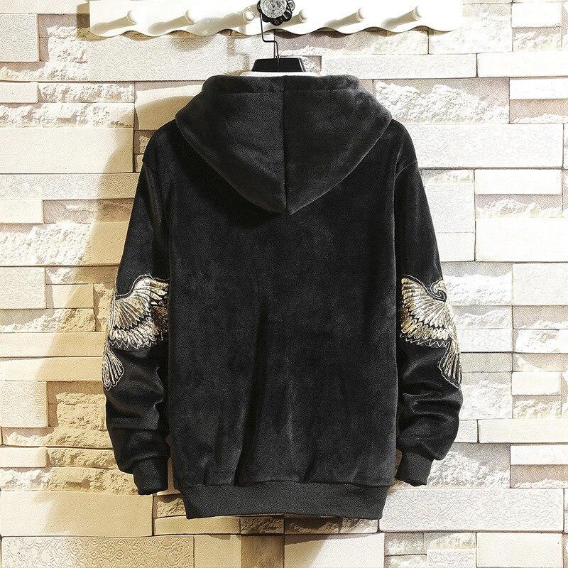 Three Piece Hoodies Sweat Suit Letter Embroidery Tracksuit Men Thick Fleece Men Velvet Set Jacket Vest Pants Men Clothing Set in Men 39 s Sets from Men 39 s Clothing