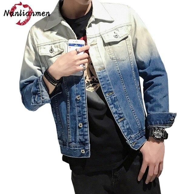 418366a0bda5a 2017 Promotion Casual Coton Automne Nouvelles Vestes Hommes Veste Homme  Jeans Veste Jaqueta Masculina Mâle Manteau