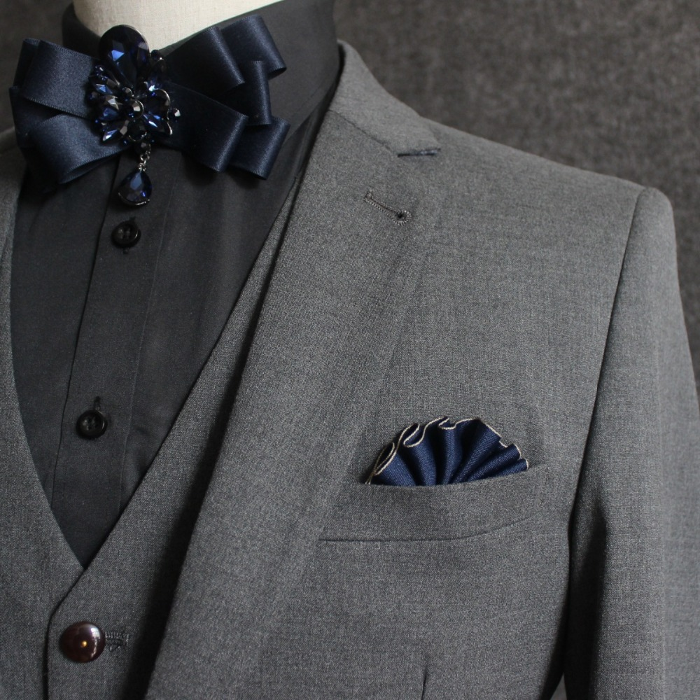 Wedding Men's Formal Suit Handkerchief Classic Silk Banquet Pocket Square Towel