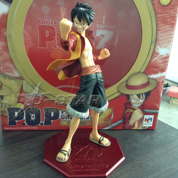 Free Shipping Cool 10 One Piece Anime File Z P.O.P  Monkey D Luffy Boxed PVC Action Figure Collection Model Toy Gift