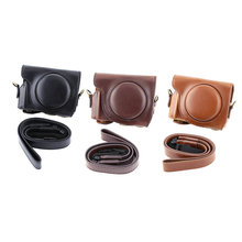 New For Canon Powershot G9x Camera Bag PU Leather Case Cover with Camera Shoulder Belt Black/Brown/Coffee