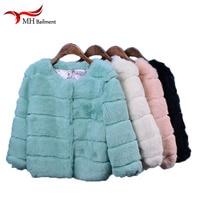 Winter Real Rabbit Fur Coat Genuine Rabbit Fur Coats Solid Nine Long Sleeve Fashion Slim Fur Female Natural Fur Coat